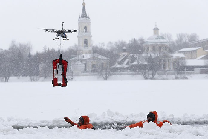 Drones used in emergency situations